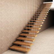Проект лестницы с боковым косоуром