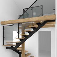 Проект лестницы в стиле лофт