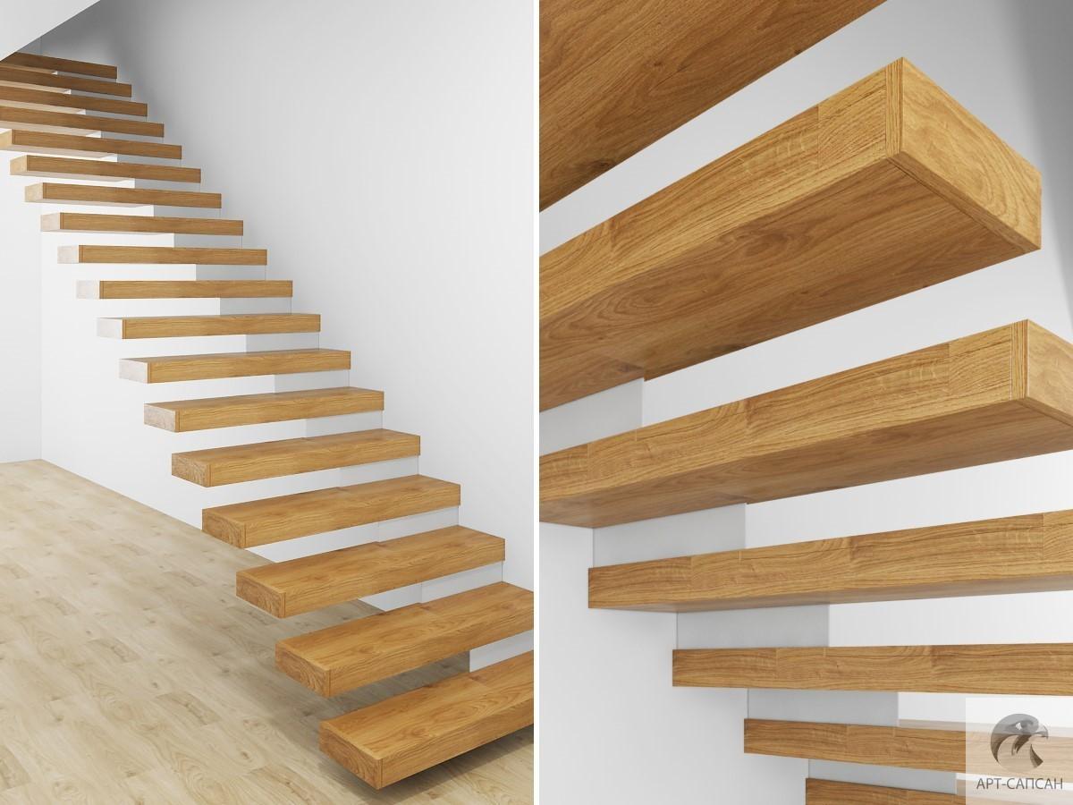 Элементы лестниц из дуба, ступени, тетива, перила, балясины